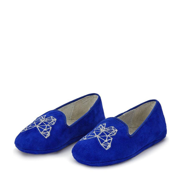 Emma Blue Slippers and Indoor Shoes by Age of Innocence