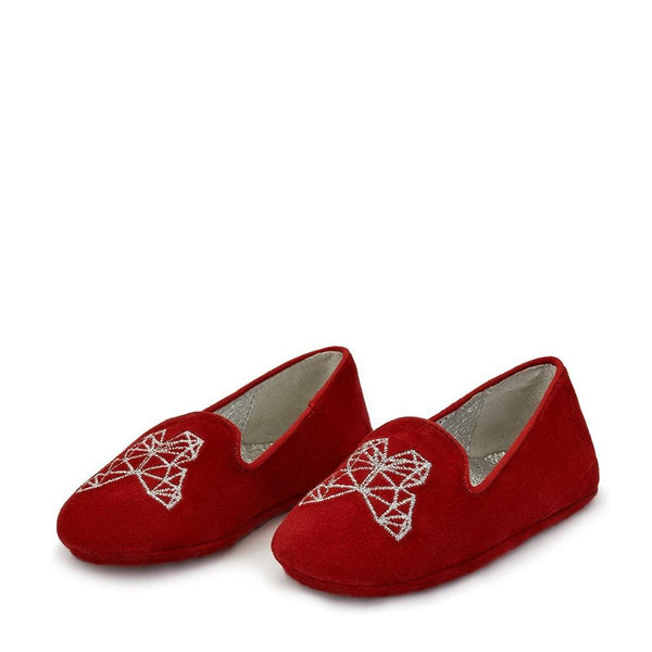 Emma Red Slippers and Indoor Shoes by Age of Innocence