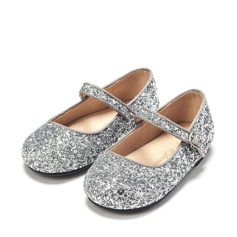 Eva Glitter Silver Shoes by Age of Innocence