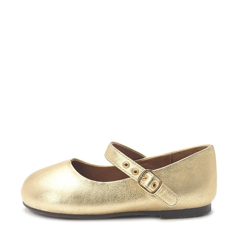 Eva Leather Gold Shoes by Age of Innocence