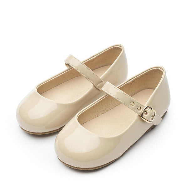 Eva PU Beige Shoes by Age of Innocence