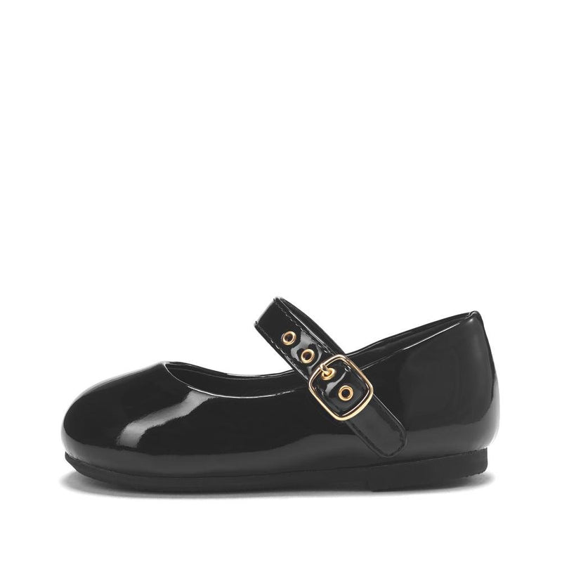 Eva PU Black Shoes by Age of Innocence