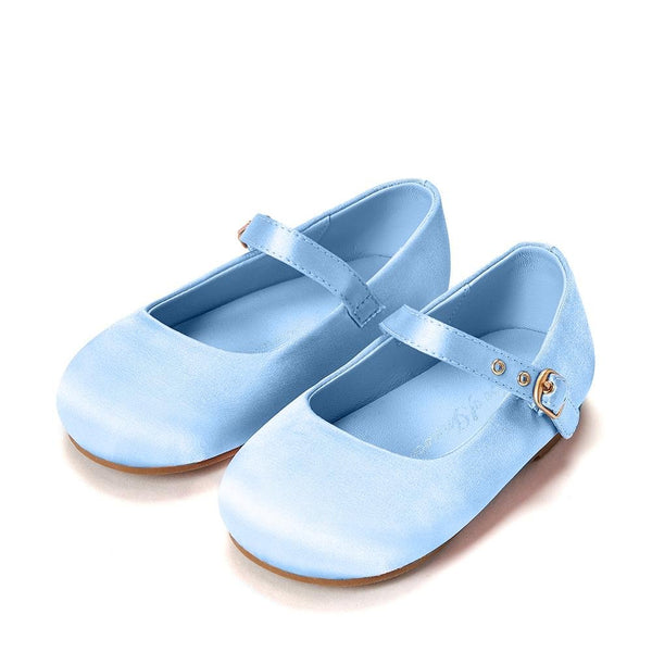 Eva Satin Blue Shoes by Age of Innocence