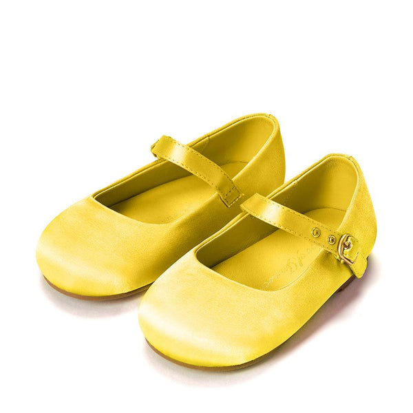 Eva Satin Yellow Shoes by Age of Innocence