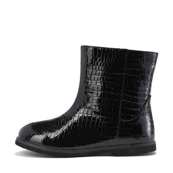 Filippa PU 2.0 Black Boots by Age of Innocence