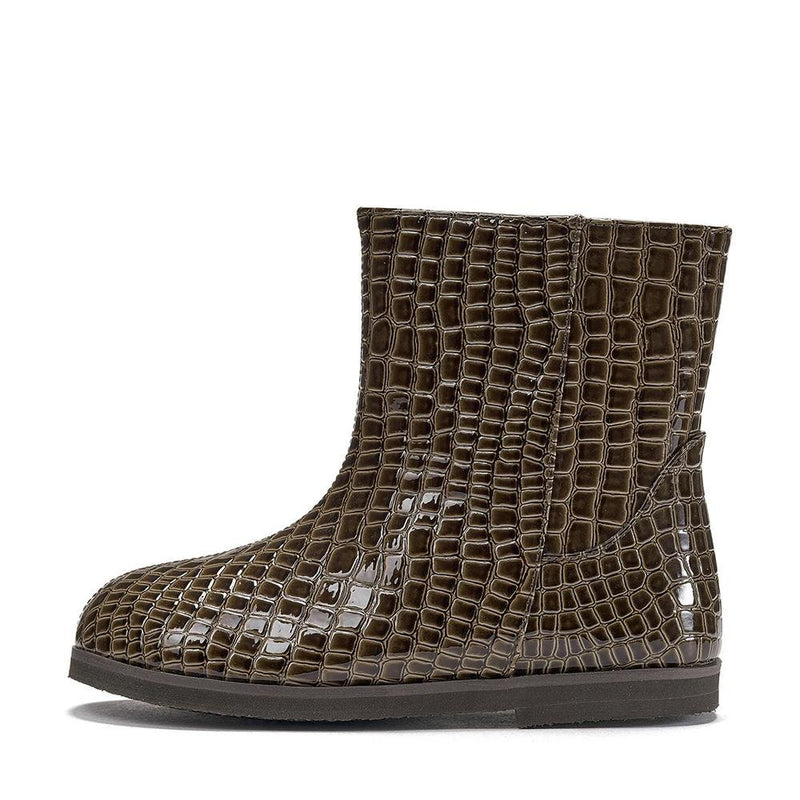 Filippa PU 2.0 Brown Boots by Age of Innocence