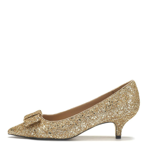 Jacqueline Glitter Gold Shoes by Age of Innocence