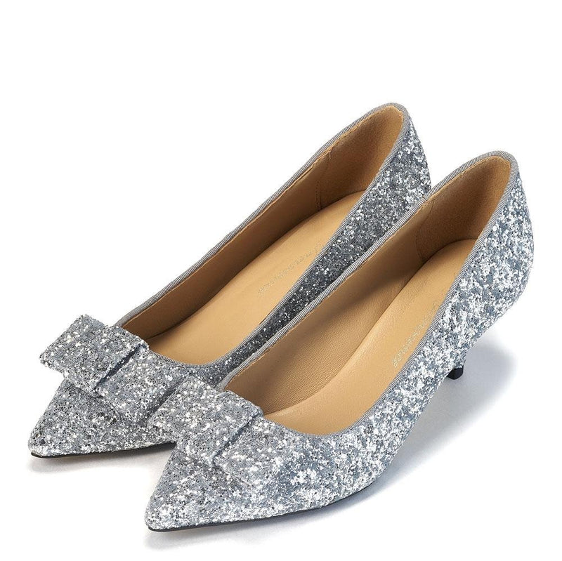 Jacqueline Glitter Silver Shoes by Age of Innocence