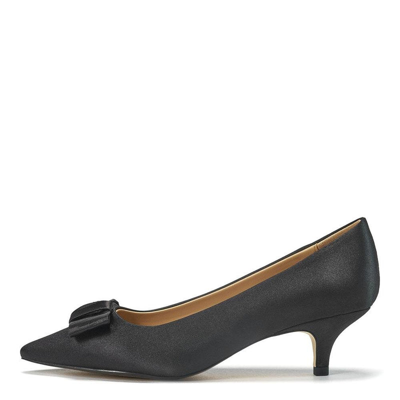Jacqueline Satin Black Shoes by Age of Innocence