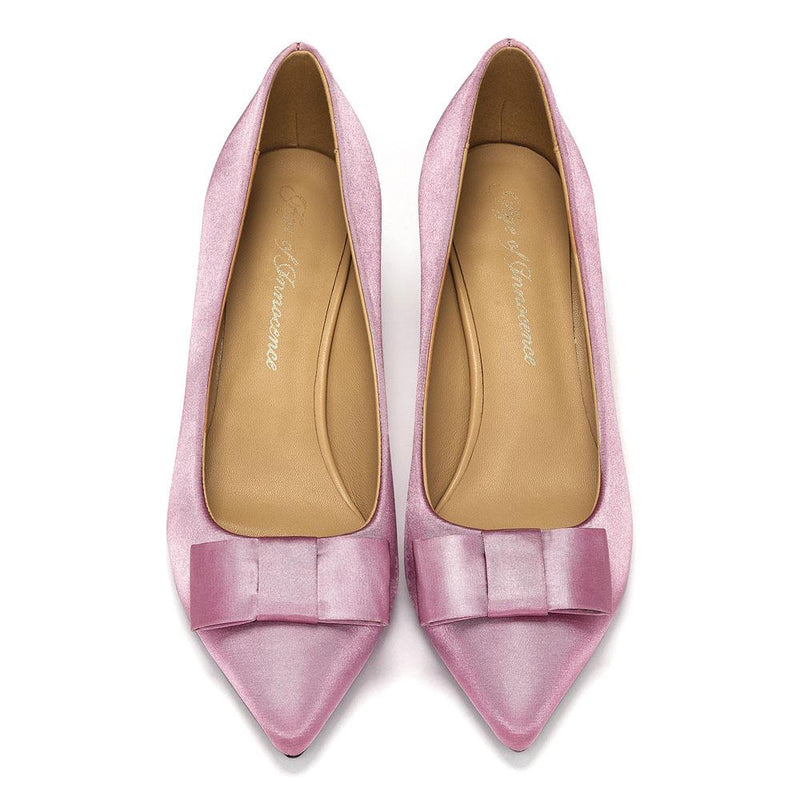 Jacqueline Satin Pink Shoes by Age of Innocence