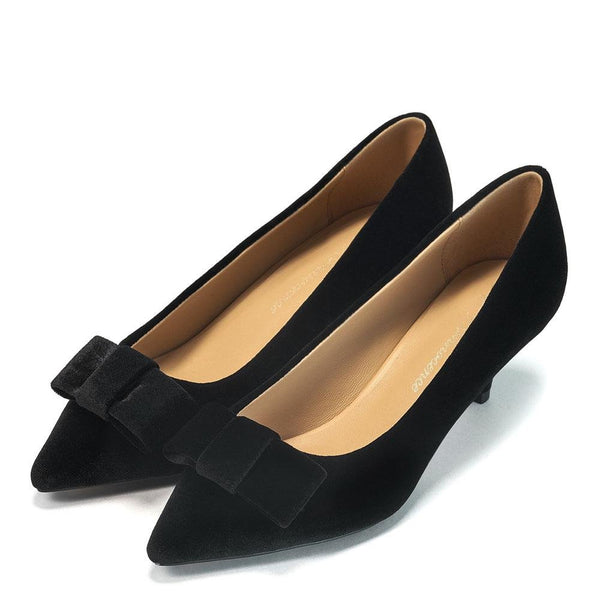 Jacqueline Velvet Black Shoes by Age of Innocence
