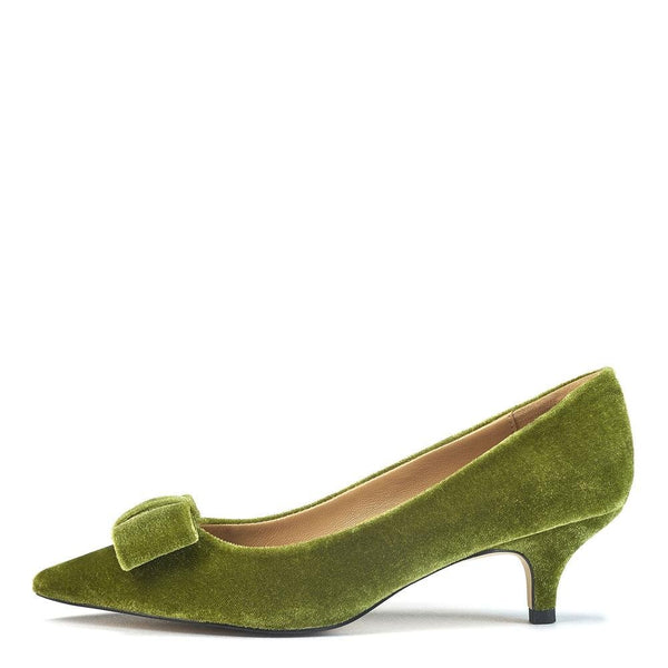 Jacqueline Velvet Green Shoes by Age of Innocence