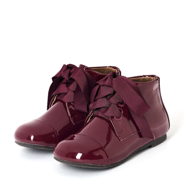 Jane PL Burgundy Boots by Age of Innocence