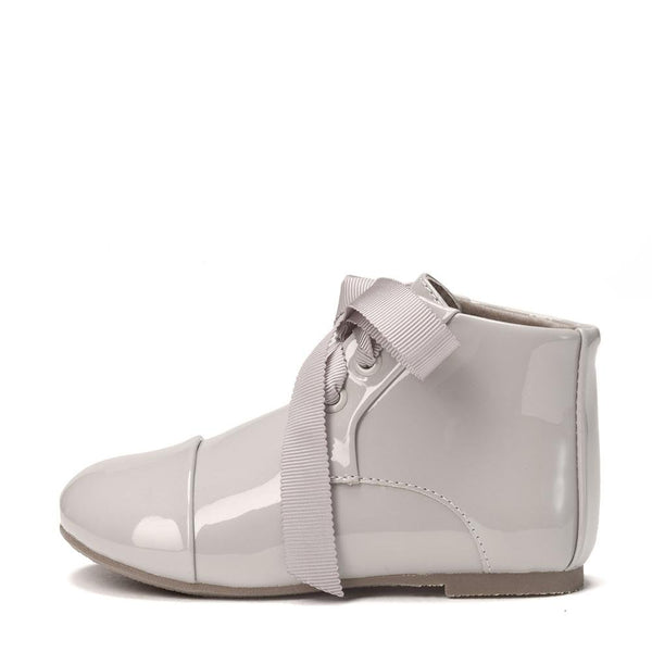 Jane PU Grey Boots by Age of Innocence