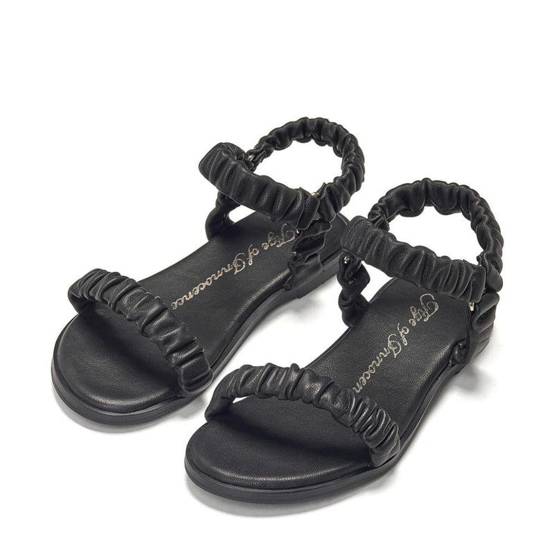 Kyle Black Sandals by Age of Innocence