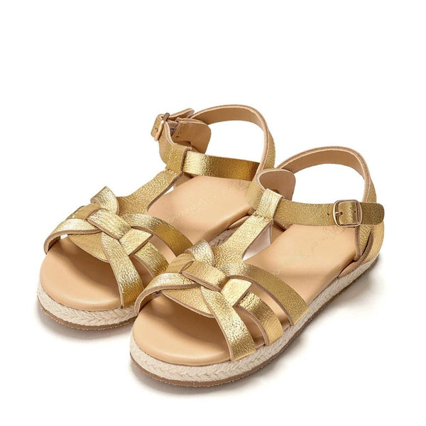 Patricia Gold Sandals by Age of Innocence