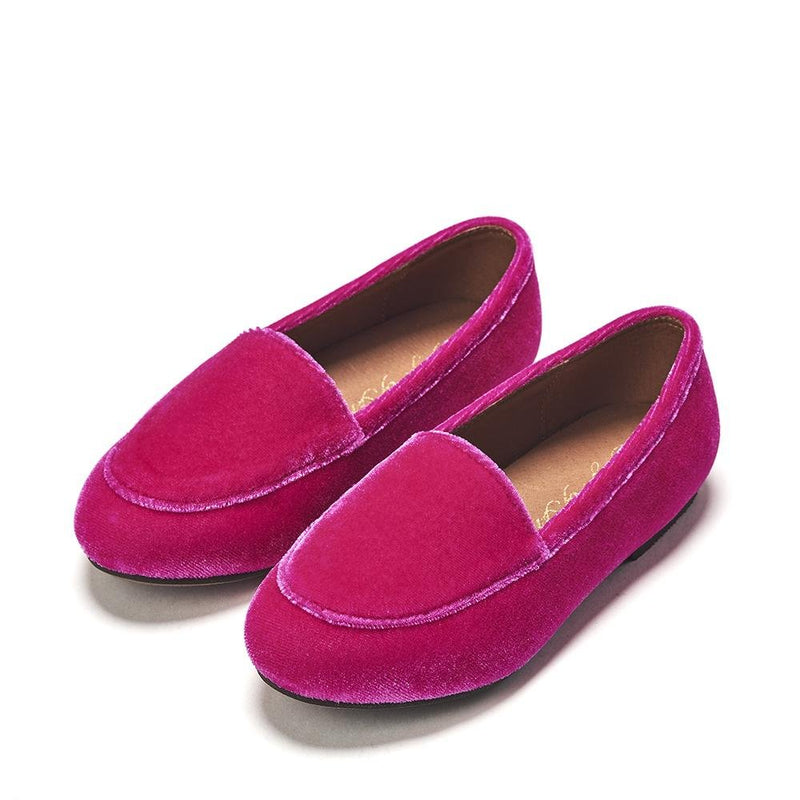 Piper Velvet Fuchsia Loafers by Age of Innocence