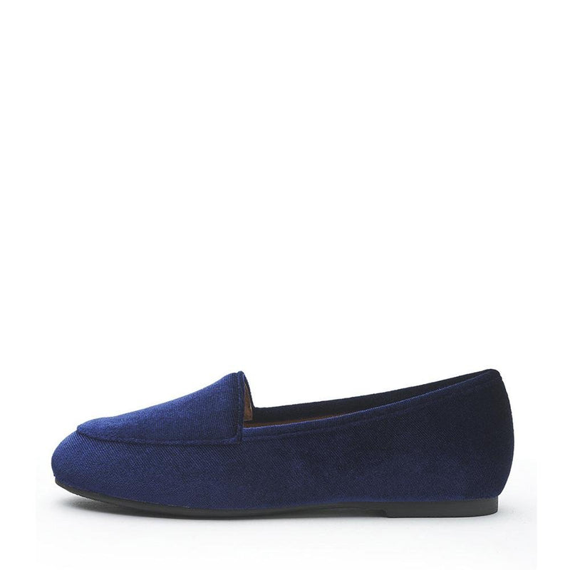 Piper Velvet Navy Loafers by Age of Innocence