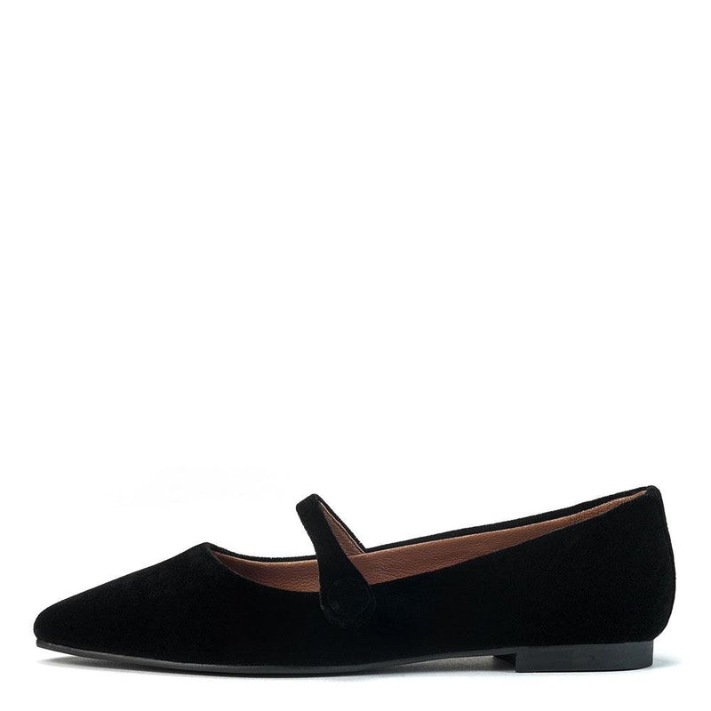 Thea Velvet Black Shoes by Age of Innocence