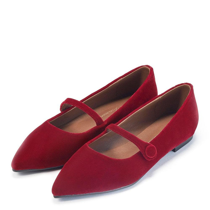 Thea Velvet Red Shoes by Age of Innocence