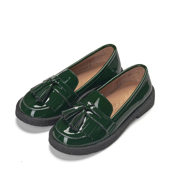 Vita Green Loafers by Age of Innocence