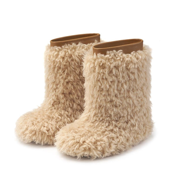 Yeti Beige Boots by Age of Innocence