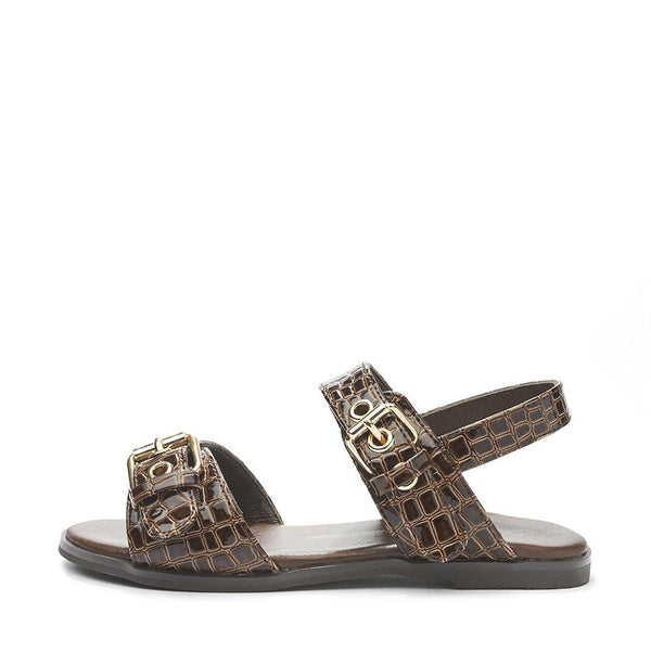 Zara Croco Brown Sandals by Age of Innocence