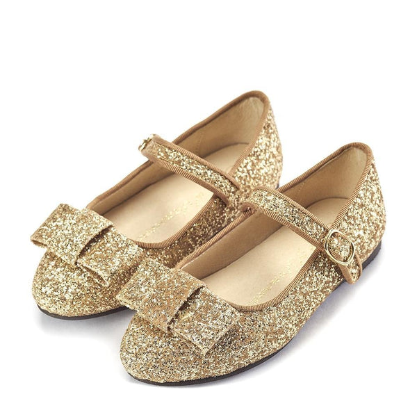 Ellen Glitter Gold Shoes by Age of Innocence
