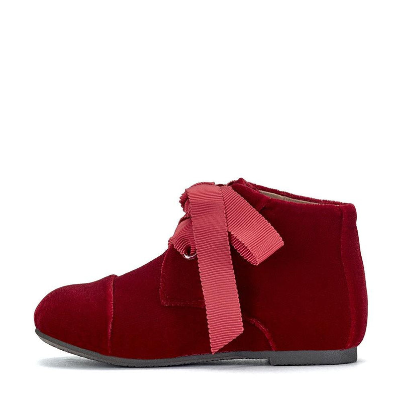 Jane Velvet Red Boots by Age of Innocence