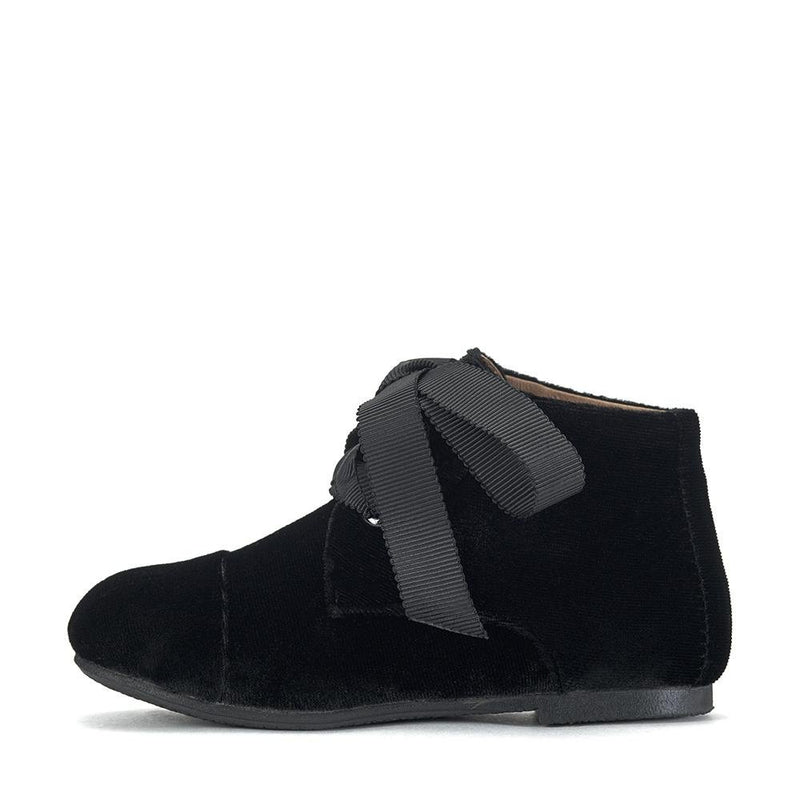 Jane Velvet Black Boots by Age of Innocence