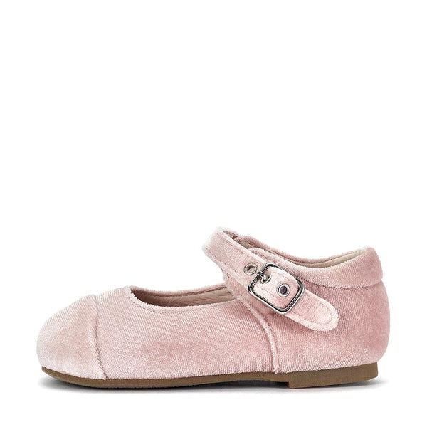 Jenny Velvet Pink Shoes by Age of Innocence