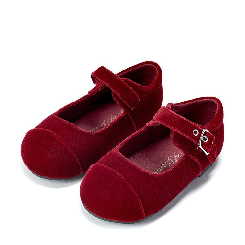 Jenny Velvet Red Shoes by Age of Innocence