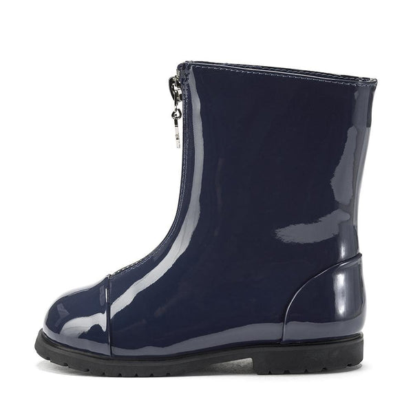 Lily PU Navy Boots by Age of Innocence
