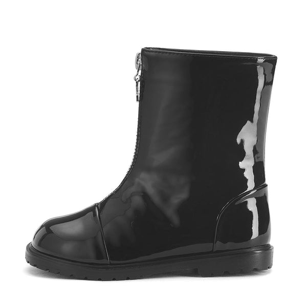 Lily PU Black Boots by Age of Innocence