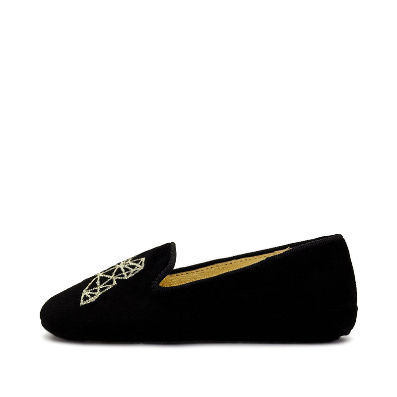 Emma Black Slippers and Indoor Shoes by Age of Innocence