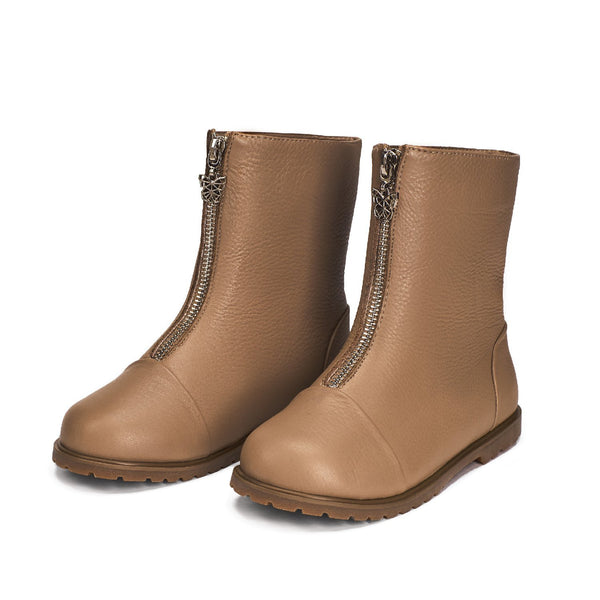 Lily Beige Boots by Age of Innocence