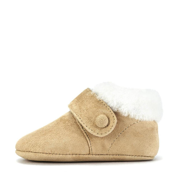 MiniMuni Beige Pre Walkers by Age of Innocence