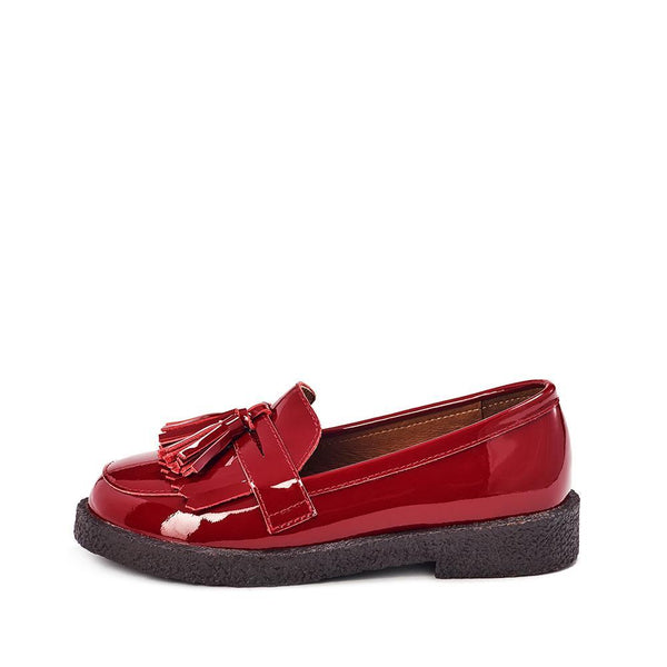 Vita Burgundy Loafers by Age of Innocence
