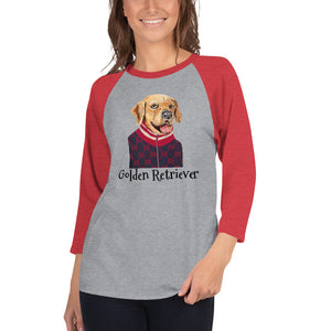 Golden Retriever 3/4 sleeve raglan shirt I 10 colors - pickie shop