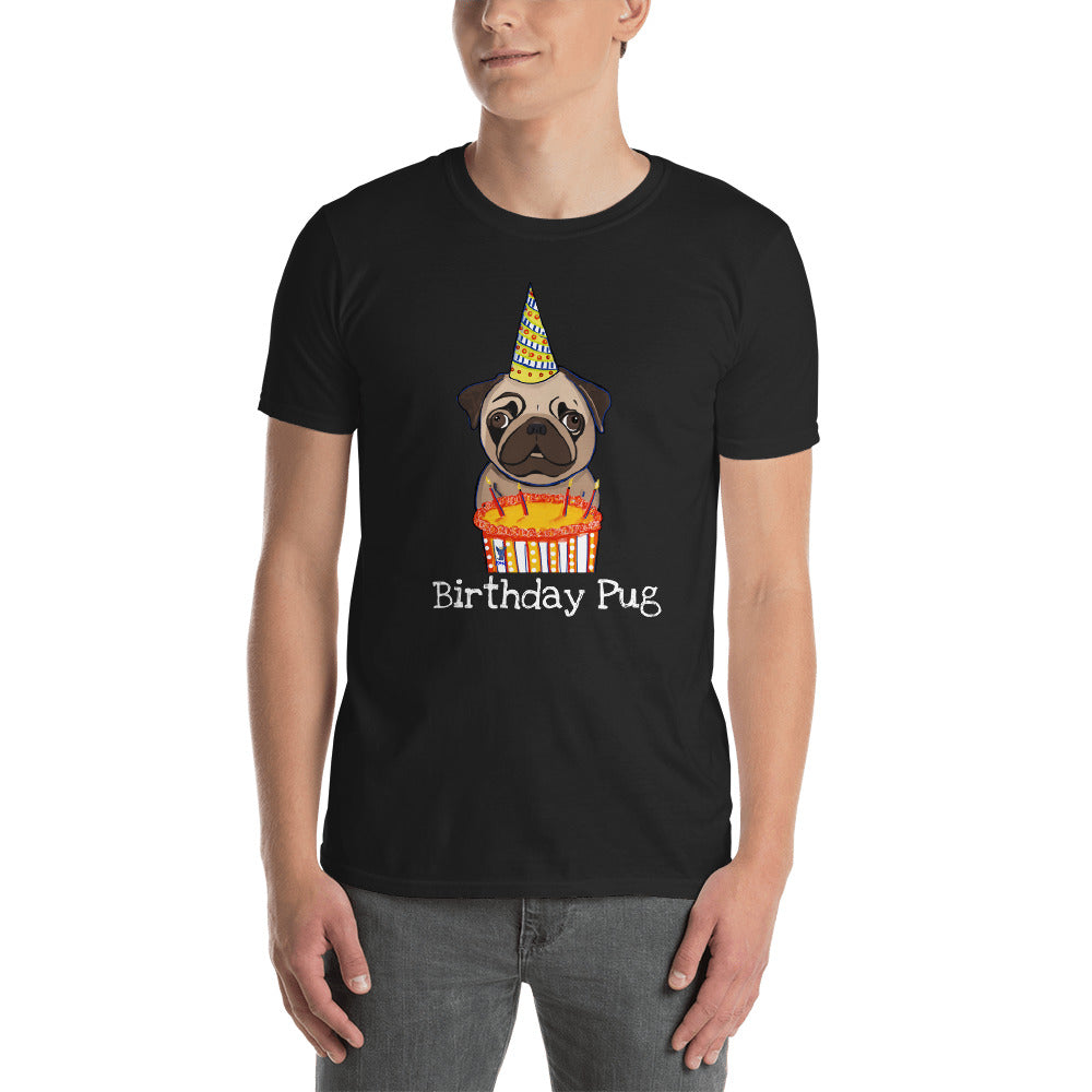 Birthday Pug T-Shirt I Black / Navy - pickie shop