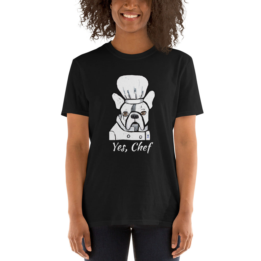Chef French Bulldog T-Shirt I Black / Grey - pickie shop