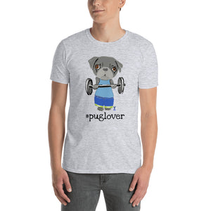 Pug Body Builder T-Shirt I White / Grey - pickie shop