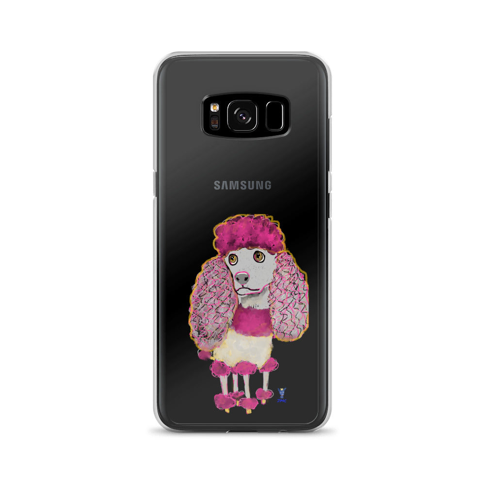 Pink Poodle Samsung Phone Case - pickie shop