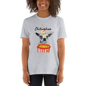 Birthday Chihuahua T-Shirt I White / Grey - pickie shop