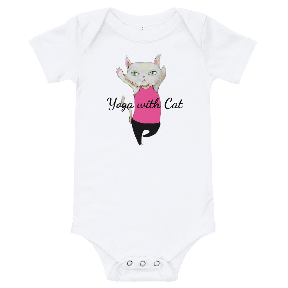 Yoga with Cat Baby Onesies® - pickie shop