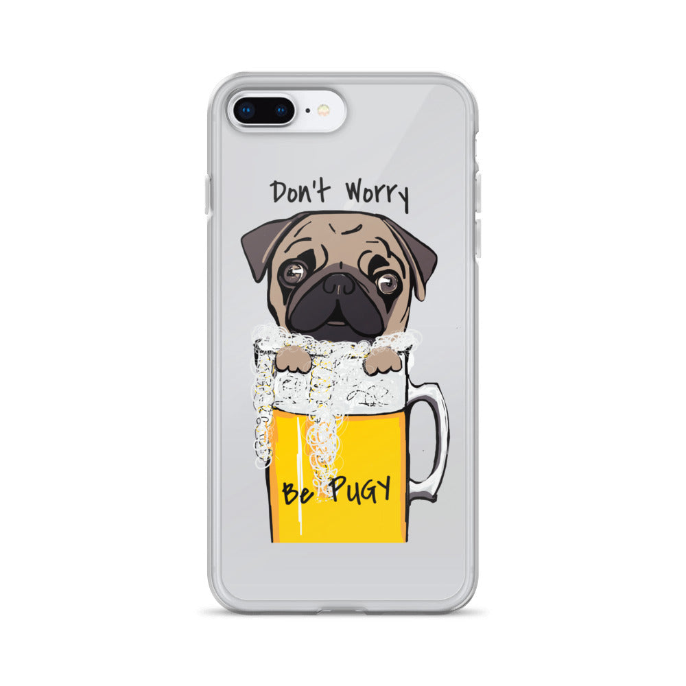 Don't Worry Be Pugy! iPhone Case - pickie shop