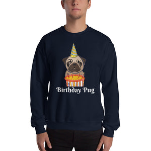 Birthday Pug Sweatshirt I Black / Navy - pickie shop