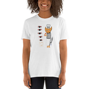 Sushi Chef Cat T-Shirt I White / Grey (no personalization) - pickie shop
