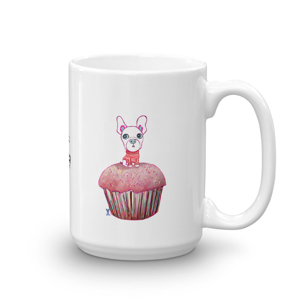 French Bulldog on the cupcake Mug - pickie shop