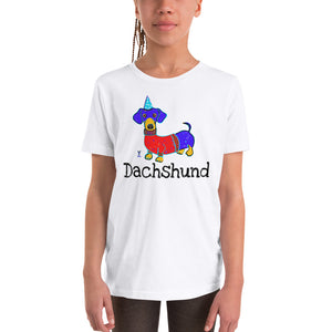 Dachshund Youth T-Shirt I White / Grey - pickie shop